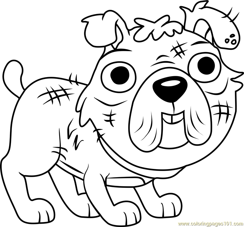 Pound puppies stuffy coloring page free pound puppies for Pound puppies coloring pages
