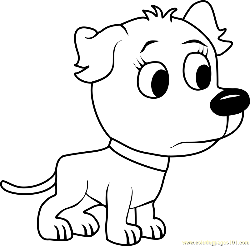 Pound puppies tip tip coloring page free pound puppies for Pound puppies coloring pages