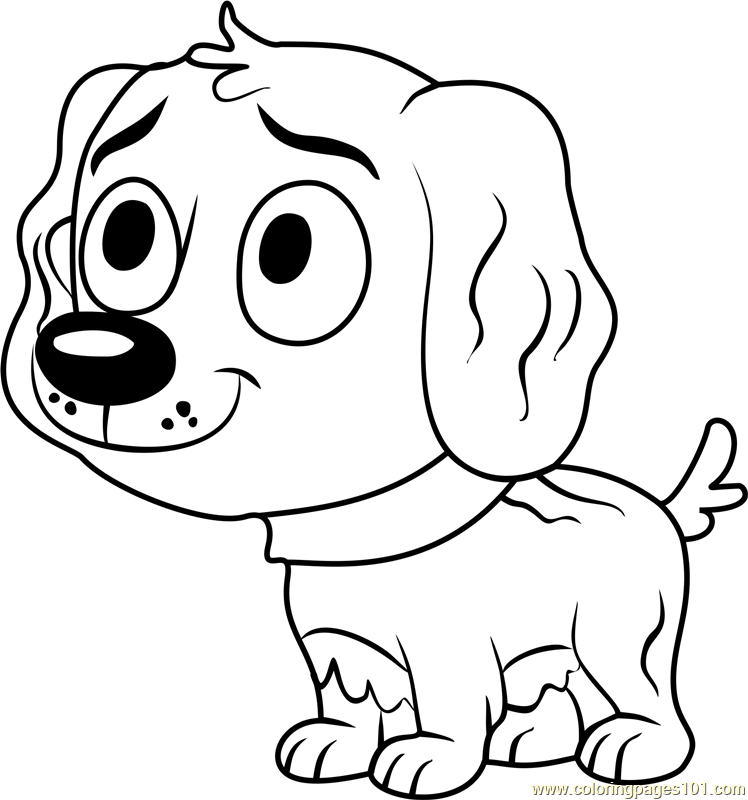 Pound puppies vanilli coloring page free pound puppies for Pound puppies coloring pages