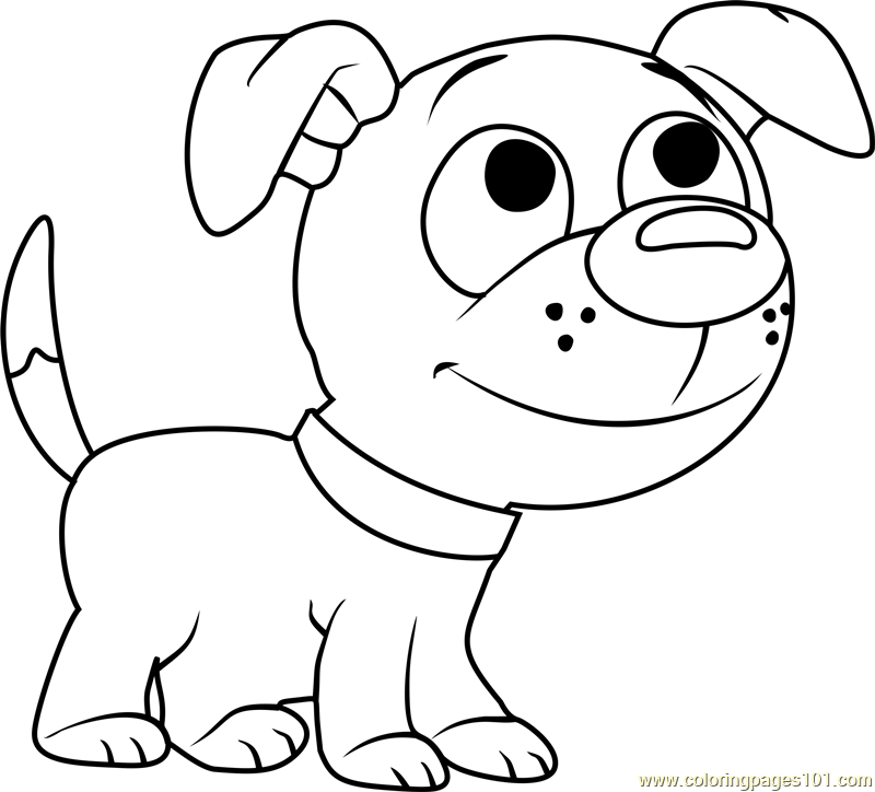 Pound Puppies Wagster Coloring Page - Free Pound Puppies ...
