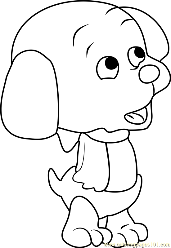 Pound Puppies Whopper Coloring Page