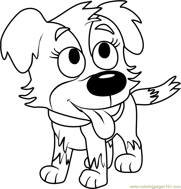 Pound Puppies Zipper Coloring Page Free Pound Puppies