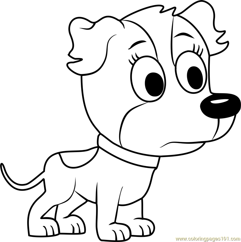 Pound Puppies Zippster Coloring Page