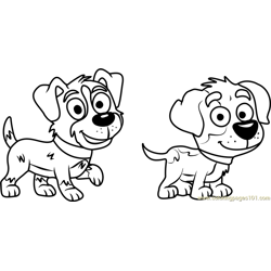 Pound Puppies Bart and Tony