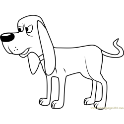 Pound Puppies Billy Ray Free Coloring Page for Kids