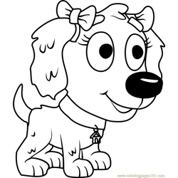 Pound Puppies Sweet Pea Free Coloring Page for Kids