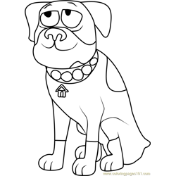 Pound Puppies Tyson Free Coloring Page for Kids