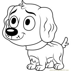 Pound Puppies Vanilli Free Coloring Page for Kids