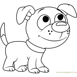 Pound Puppies Wagster Free Coloring Page for Kids