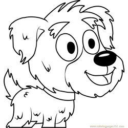 Pound Puppies Yakov Free Coloring Page for Kids