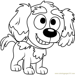 Pound Puppies Yo Yo Free Coloring Page for Kids
