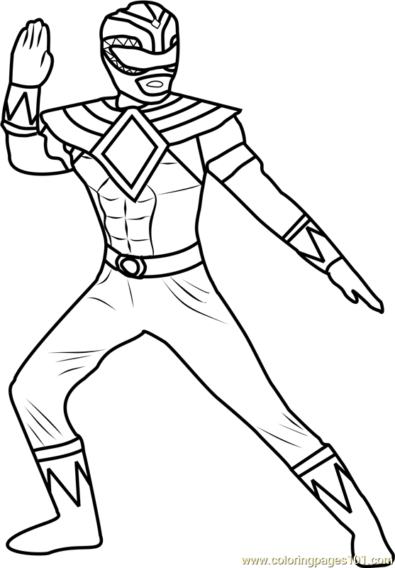 Power Ranger Green Coloring Page - Free Power Rangers
