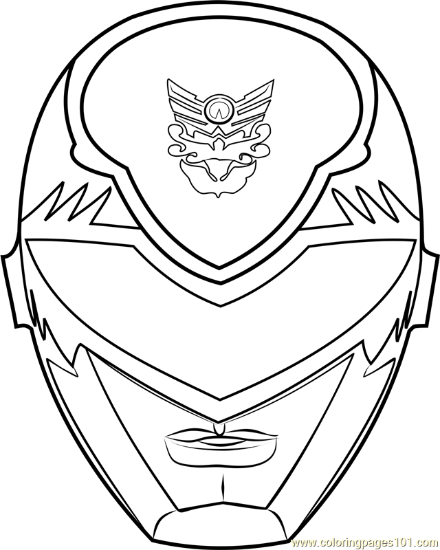 Power Ranger Mask Coloring Page - Free Power Rangers Coloring ...