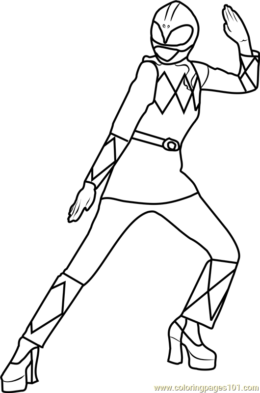 Power Ranger Pink Coloring Page