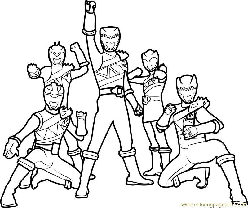 Power Rangers Dino Charge Coloring Page - Free Power Rangers ...