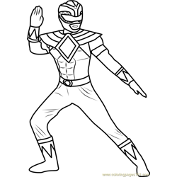 Power Ranger Green Free Coloring Page for Kids