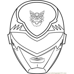 Power Ranger Mask Free Coloring Page for Kids