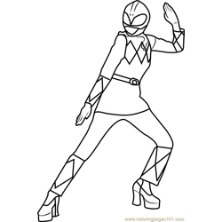 Power Ranger Pink Free Coloring Page for Kids
