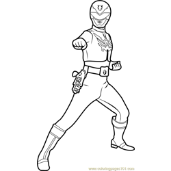 Power Ranger Red Free Coloring Page for Kids