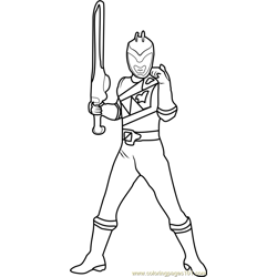 Power Ranger Free Coloring Page for Kids