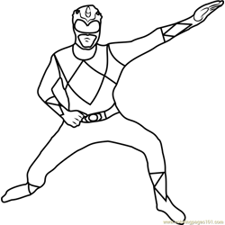 Power Ranger in Morphsuit Free Coloring Page for Kids