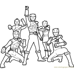Power Rangers Dino Charge Free Coloring Page for Kids