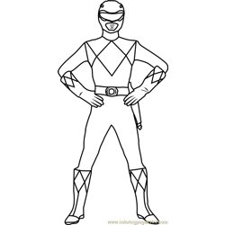 Red Ranger Free Coloring Page for Kids