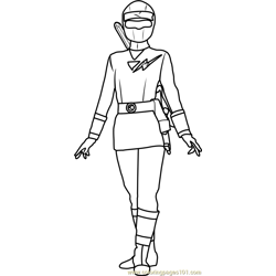 White Power Ranger Free Coloring Page for Kids