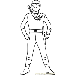 Yellow Power Ranger Free Coloring Page for Kids