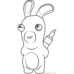 Rabbids coloring page