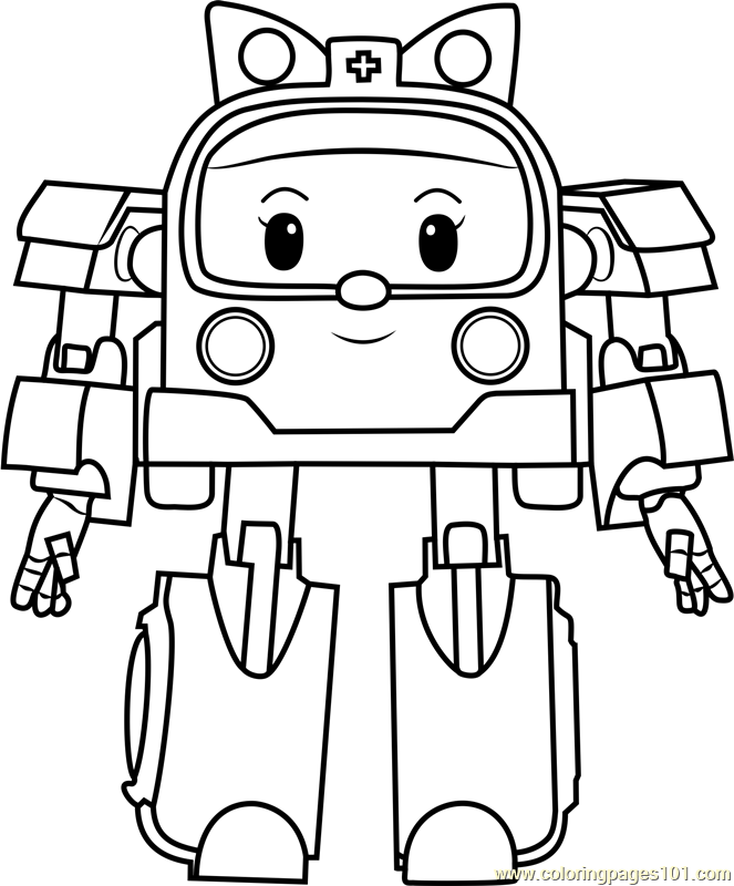 Amber Coloring Page - Free Robocar Poli Coloring Pages ...
