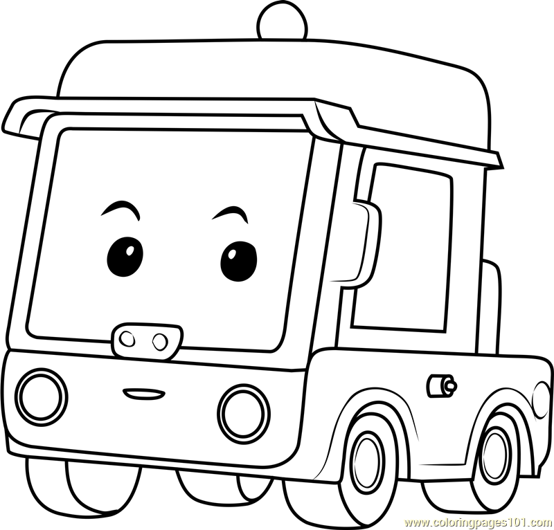 Beny Coloring Page Free Robocar