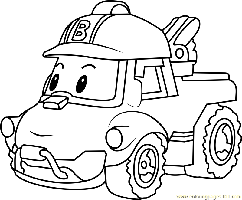 Coloring Pages Robocar Poli : Bucky coloring page free robocar poli pages