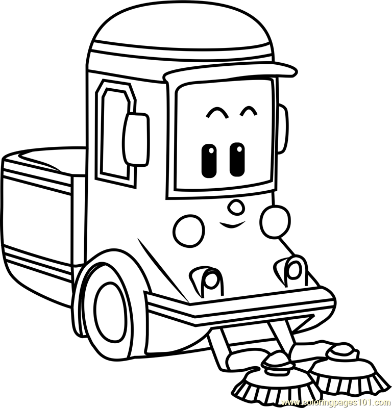 Cleany Coloring Page Free Robocar Poli Coloring Pages