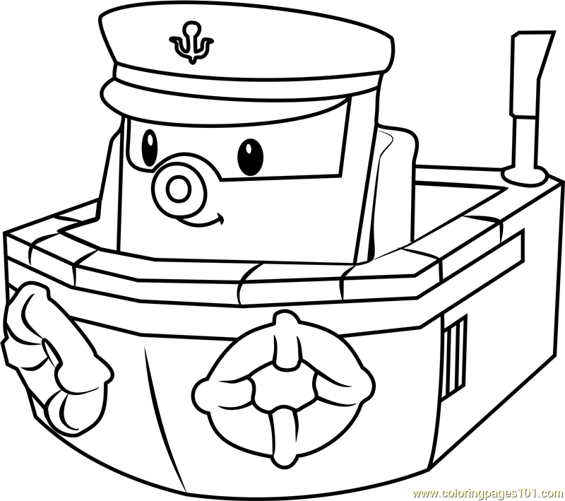 Coloring Pages Robocar Poli : Marine coloring page free robocar poli pages