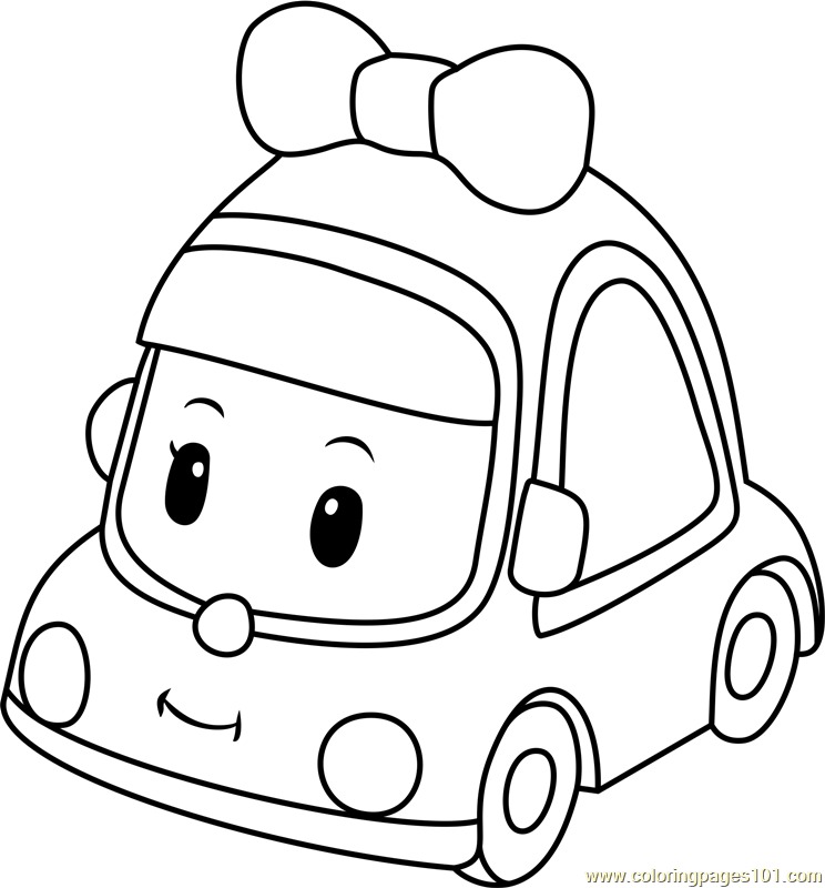 Mini Coloring Pages Mini Coloring Page  Free Robocar Poli Coloring Pages .