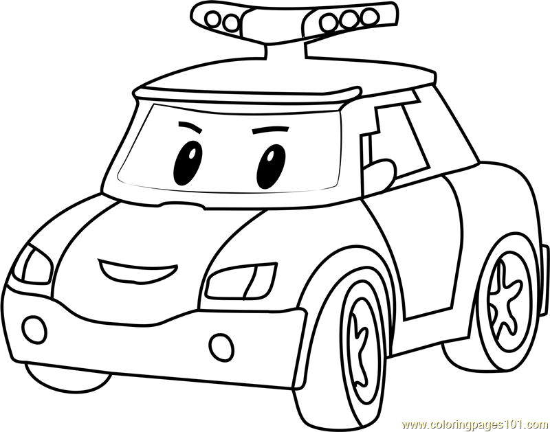 Policar Coloring Page Free Robocar Poli Coloring Pages