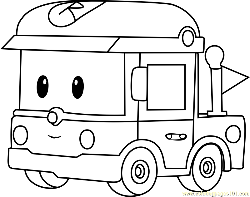 Rody Coloring Page Free Robocar
