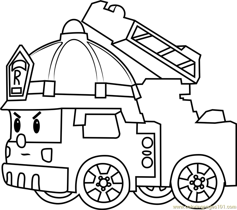 Roy Fire Truck Coloring Page