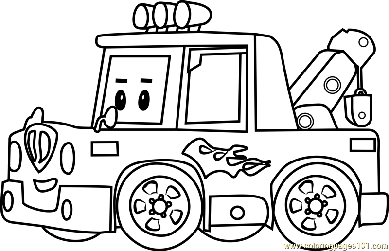 Free Robocar Poli Coloring Pages