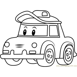 Cap Free Coloring Page for Kids