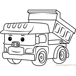 Dump Free Coloring Page for Kids