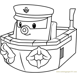Marine Free Coloring Page for Kids