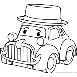 Musty Free Coloring Page for Kids