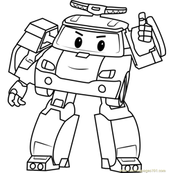 Poli coloring page