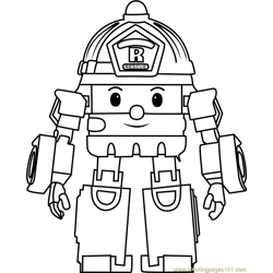 Roy coloring page