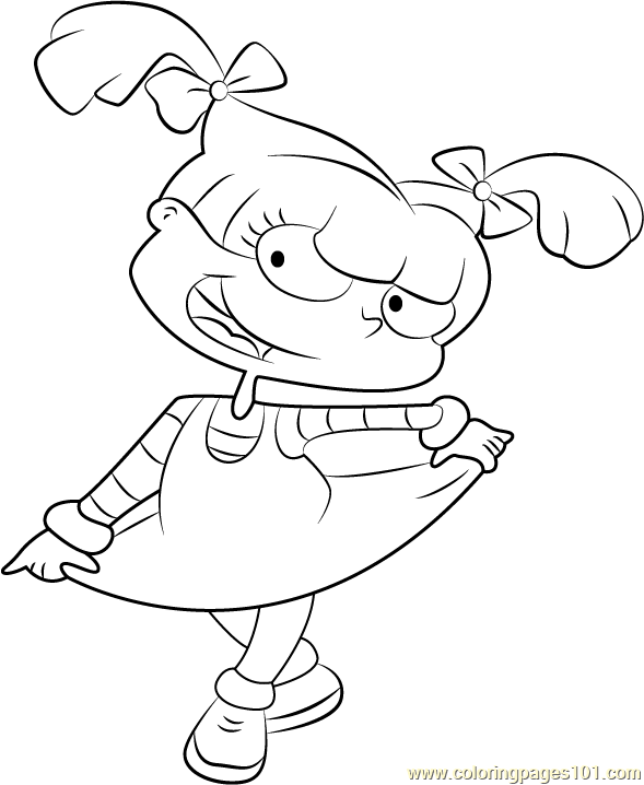Angelica Pickles Coloring Page - Free Rugrats Coloring Pages ...