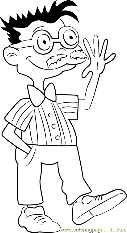 Chas Finster Coloring Page Free Rugrats Coloring Pages