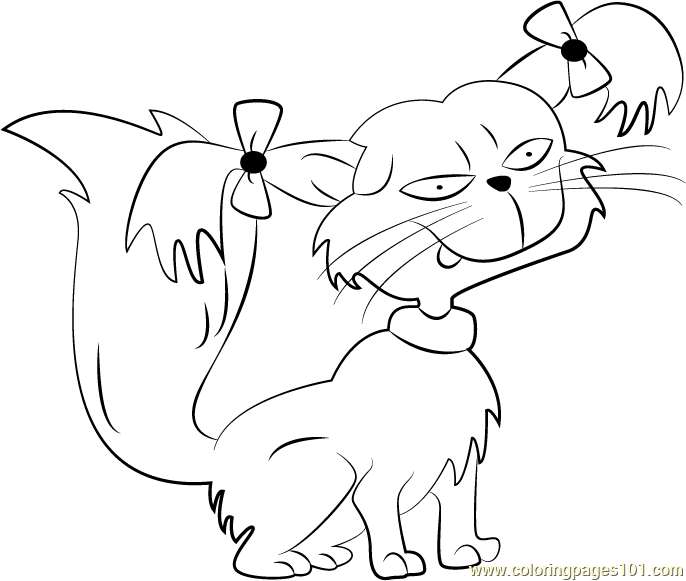 Fluffy Coloring Page Free Rugrats