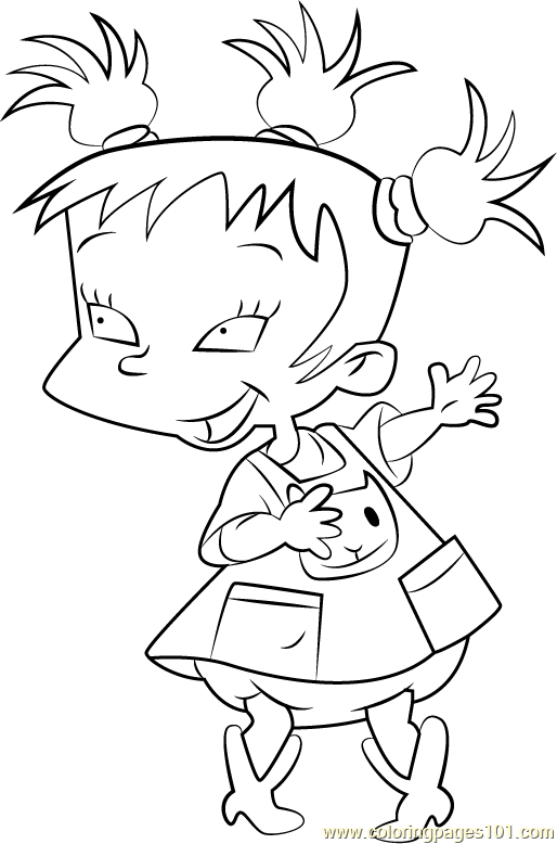 Kimi Finster Coloring Page For Kids Free Rugrats Printable Coloring Pages Online For Kids Coloringpages101 Com Coloring Pages For Kids
